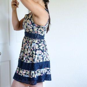 LC Lauren Conrad Dresses - LC Lauren Conrad Floral Blue Dress